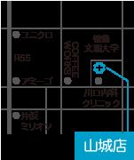 ひかり薬局山城店 地図